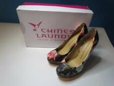 NIB Chinese Laundry Black Floral Platform High Heel Shoe Sz 060 and 10 M