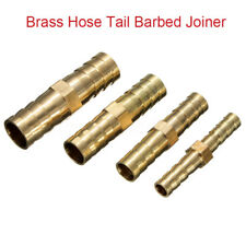 Brass Hose Tail Connectors/Joiner Straight Pipe Repairers Air Gas Fuel Tube Lot