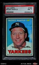 1967 Topps #150 Mickey Mantle Yankees PSA 7 - NM
