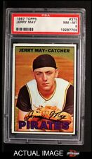 1967 Topps #379 Jerry May -  Pirates PSA 8 - NM/MT