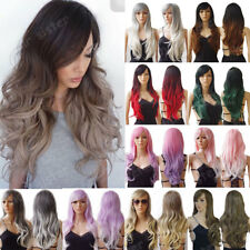 Cosplay Wig Real Thick Curly Straight Wavy Long Hair Full Wigs Costume Party #xm