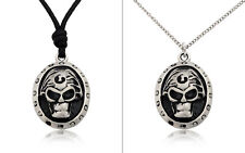 Skeleton Skull Silver Pewter Charm Necklace Pendant Jewelry