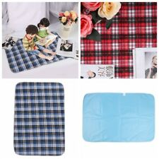 Washable Waterproof Plaid  Bed Seat Pad Hospital Incontinence Adult Children Pet