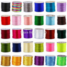 2mm 45M Silky Nylon Beading Jewelry Making Satin Cord String Macrame Thread Wire