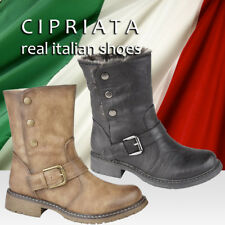 """Cipriata """"Inverno"""" Womens Ankle Boots Fur Collar Fold Down Style Faux Fur Boots"""