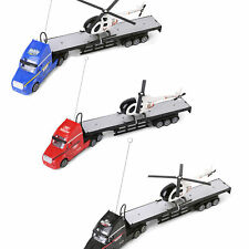 Remote Control Electric Big Rig Car Truck With Helicopter Kids Toy Xmas Gift