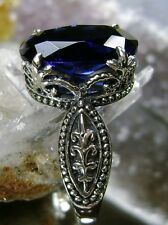 5ct *Sapphire* Sterling Silver Dragon Gothic Claw Filigree Ring {Made To Order}