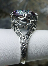 6ct *Mystic Topaz* Sterling Silver Victorian Leaf Filigree Ring {Made To Order}