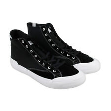 HUF Classic Hi Ess Black Textile High Top Lace Up Sneakers Shoes