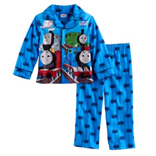 THOMAS THE TRAIN 3T 4T FLEECE Pajamas SHIRT PANTS Outfit Pjs Toddler Boys WARM