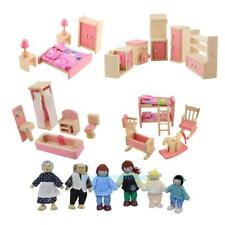 Wooden Doll Bathroom Furniture Dollhouse Miniature For Kids Child Play Toy #JT1
