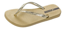 Womens Ipanema Flip Flops Glam Beach Sandals - Gold - World Shipping