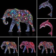Charm Colorful Printing Animal Elephant Dolphin Brooch Pin Women Jewelry Gift