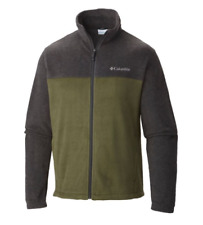 Columbia Men's Steens Mountain Full-Zip Fleece Jacket size L XL - Gray/Green