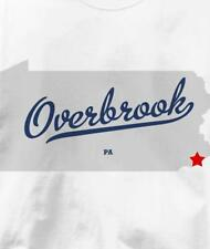 Overbrook, Philadelphia County, Pennsylvania PA MAP T Shirt All Sizes & Colors
