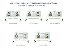 CHRISTMAS CARDS.RAF FLYING BOAT/COMMS/GEN RECON SQUADRONS.VINTAGE DESIGN CARDS
