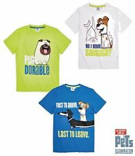 Boys The Secret Life Of Pets T Shirt Top Tee Short Sleeve Cotton Ages 4-10 Years