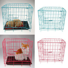 Steel Folding Dog Cage Metal Pet Puppy Cat Rabbit Crate Kennel with Plastic Tray