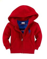 NWT Boys Ralph Lauren Blue Big Pony Red Hoodie age 12 months