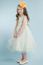 New Satin Tulle Flower Girls Dress Easter Christmas Party Graduation Pageant 208