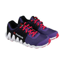 Reebok Zigtech Big N Fast Ex Girls Purple Nylon Athletic Lace Up Running Shoes