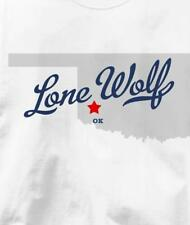 Lone Wolf, Oklahoma OK MAP Souvenir T Shirt All Sizes & Colors