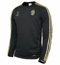 adidas Juventus Champions League Training Top Mens Black/Gold Football Soccer