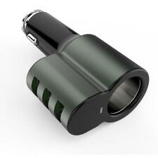 25W 5.1AMP CAR CHARGER SOCKET 3-PORT USB WITH SMART ID [BLACK] for SMARTPHONES