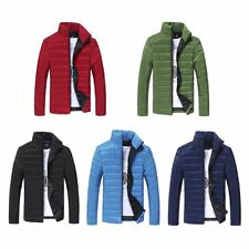 Men Warm Cotton Padded Down Coat Winter Slim Thick Outerwear Jacket lot HO