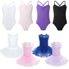 Girls Ballet Leotard Dance Dress Kids Gymnastics Tutu Skirt Costumes Dancewear