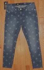 ROCK & REPUBLIC STARLIGHT HAMBURG DENIM CROPPED JEANS/CAPRI sz 0 NEW