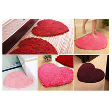 New Fashion Chenille Soft Bathroom Bedroom Heart Non-slip Mat Floor Rug Carpet