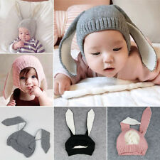 Cute Baby Toddler Kids Boy Girl Knitted Rabbit Crochet Ear Beanie Warm Hat Cap