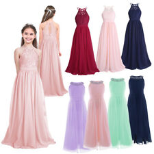 Girls Princess Dress Kids Party Wedding Bridesmaid Birthday Formal Pageant Dress