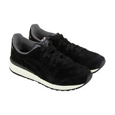 Onitsuka Tiger Tiger Ally Mens Black Leather Lace Up Sneakers Shoes