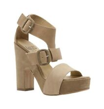 New! Ganzo Natural Leather Platform Sandal On Beige Suede Leather Wedge