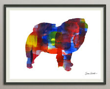 Chow Chow Dog Dog All Sizes - Print Poster Art Print Watercolors