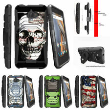 For CoolPad Catalyst | CoolPad 3622A Clip Stand Case USA Skull