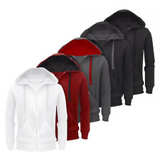 New Plain Mens Hoodie American Fleece Zip Up Jacket Sweatshirt Hooded Top Casual