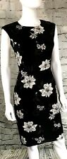 Banana Republic Womens Sheath Dress Stretch NEW Black Floral NWT MSRP-$89