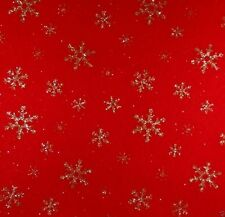 Glitter Snowflake Craft Felt A4 Rectangles 23x30cm Acrylic - RED