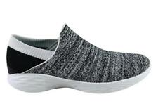 NEW SKECHERS YOU WOMENS COMFORTABLE CASUAL WHITE/BLACK SLIP ON SHOES
