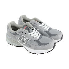 New Balance W990 Womens Gray Leather & Mesh Athletic Lace Up Shoes