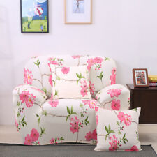 1 Seater Floral Modern Stretch Sofa Slipcover Protector Soft Couch Settee Cover