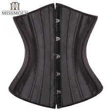 Women Underbust Beautiful Brocade Bridal Corset Slim Body Shapewear Steel Boned