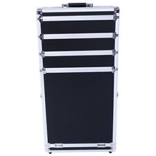 Train Case Cosmetic Wheeled Box Pro 3-in-1 Aluminum SM-7072 Rolling Makeup