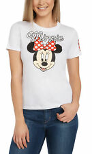 Juniors Disney Minnie Mouse Short Sleeve Graphic T-Shirt White