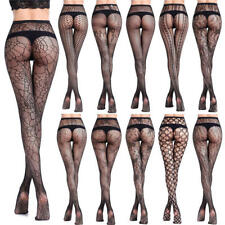 Women's Sexy Black Lace Fishnet Hollow Patterned Pantyhose Tights Stocking Socks