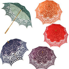 Handcraft Lace Flower Embroidery Umbrella Craft Parasol Wedding Decor Photo Prop