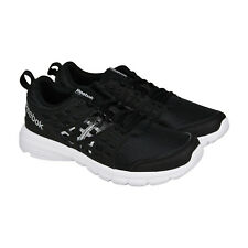 Reebok Speed Rise Mens Black Silver Synthetic Athletic Running Shoes